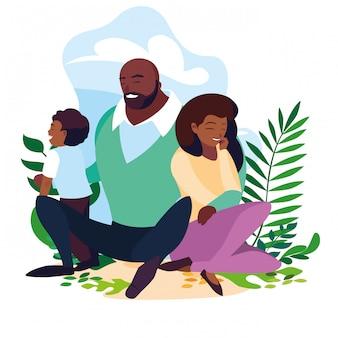 현장 자연에서 아들 가족과 함께 아프리카 부모