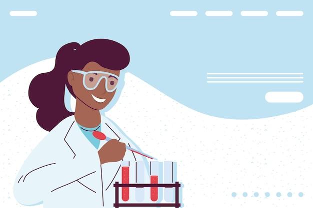 아프리카 여성 실험실 과학 과학자