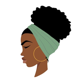 아프리카 여성 아프리카계 미국인 여성 벡터 일러스트 레이 션