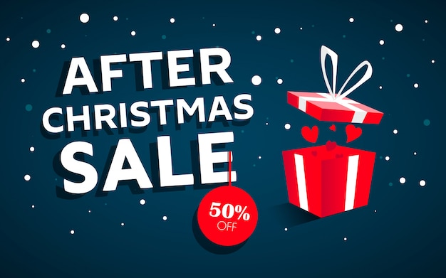 After christmas sale concept banner