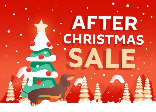 After christmas sale design banner