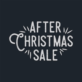 After christmas sale lettering and typography elements. holiday online shopping type quote. stock vector illustration isolated on dark background.