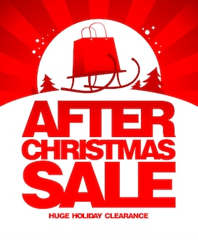 After christmas sale  template.