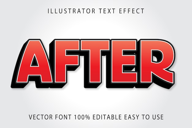 After  editable text effect