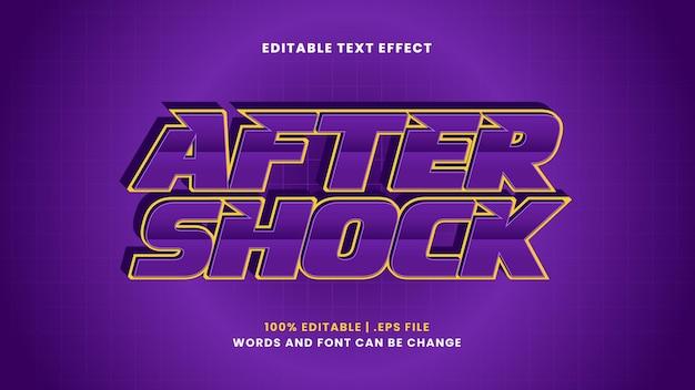 Редактируемый текстовый эффект после шока в современном 3d стиле