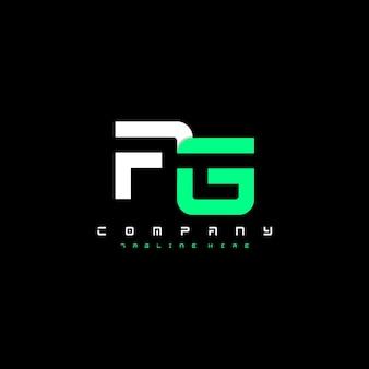 Ag letter futuristic modern vector logo