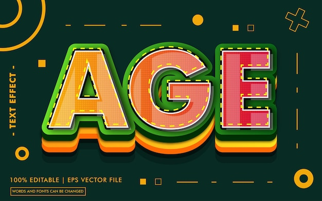 Age text effect style
