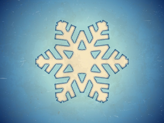 Aged card with snowflake