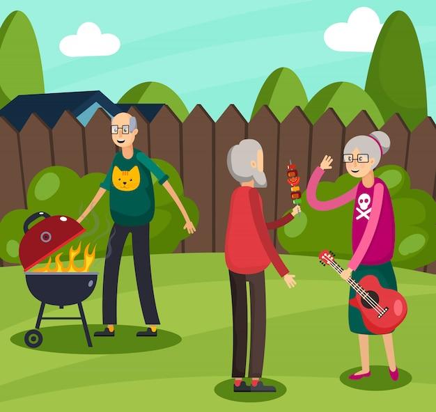 Aged elderly people orthogonal composition