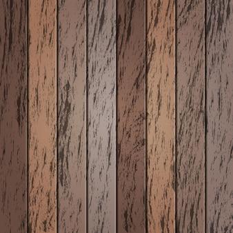Старые деревянные обои в коричневом цвете
