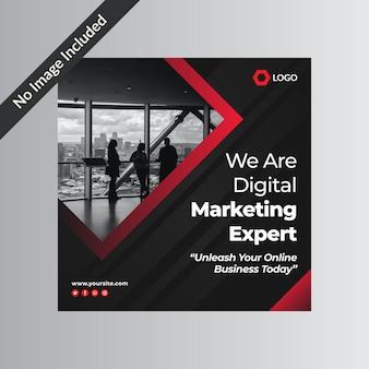 Дизайн шаблона рекламного поста агентства