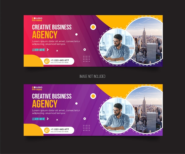 Agency modern facebook cover template
