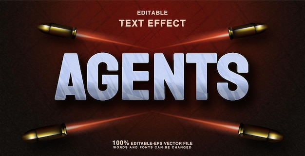 Agent text style effect