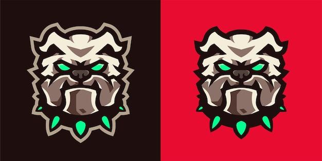 アグレッシブなブルドッグeスポーツゲームのロゴ