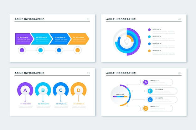 Agile infographic template