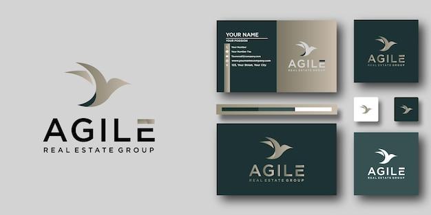 Шаблон логотипа agile real estate с современной концепцией