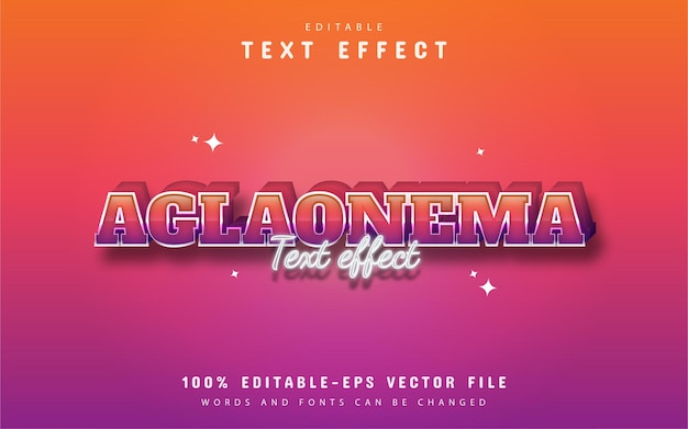 Aglaonema text - editable colorful style text effect