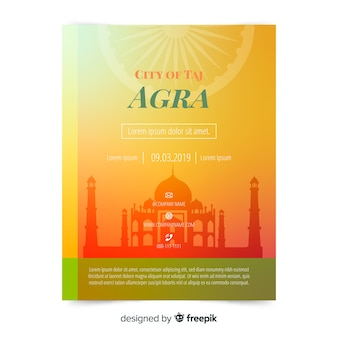 Agra flyer template