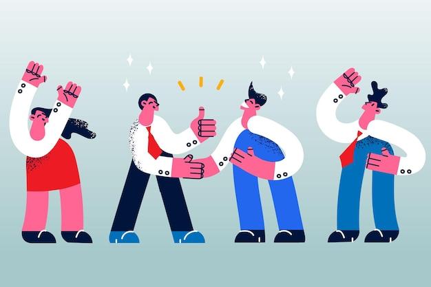 계약 악수 및 협업 개념