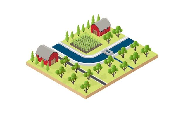 水路のある農業および農業システム