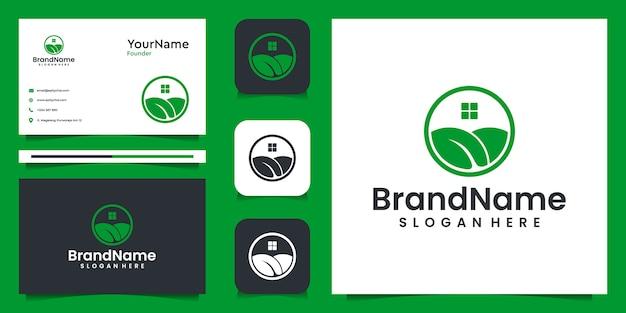 農業イラストグラフィックロゴデザイン。自然、スパ、ブランド、そして家のためのスーツ
