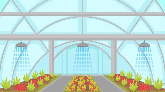 Agricultural irrigation system vector illustration