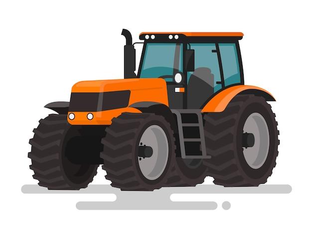 농업 기계. 흰색 배경에 트랙터입니다. 삽화
