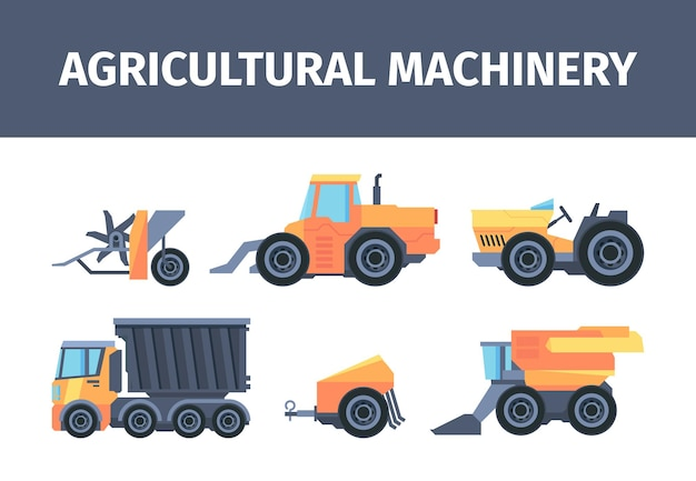 Agricultural machines and mechanisms set