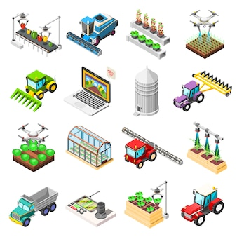 Agricultural robots isometric elements