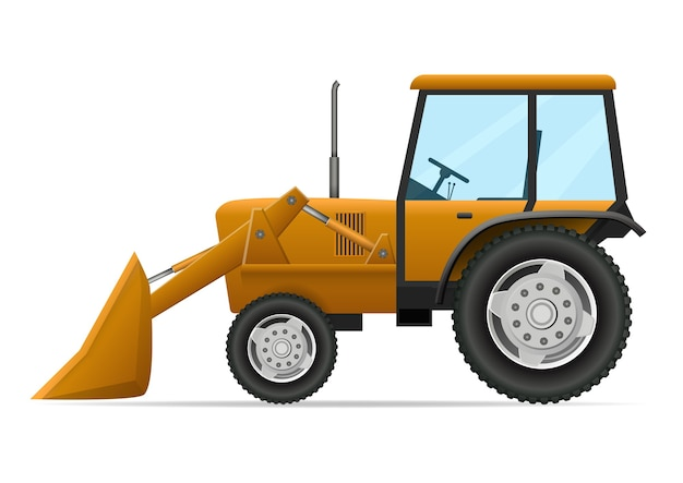 農業用トラクターのイラスト