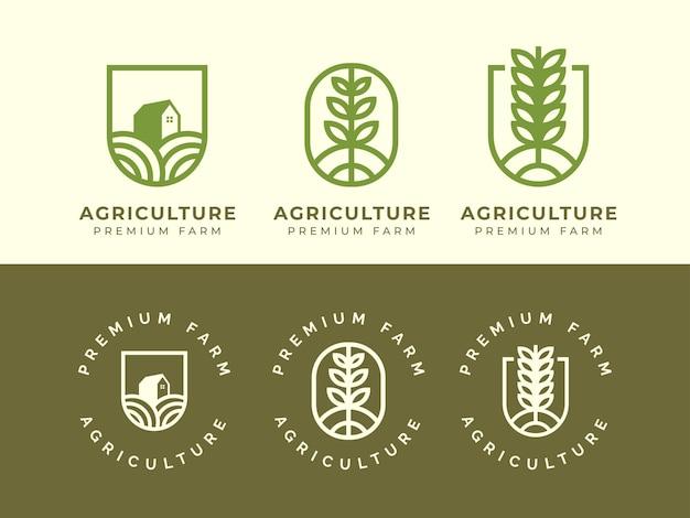 Концепция дизайна логотипа сельского хозяйства и фермы