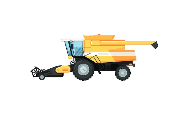 Agriculture combine harvester  illustration