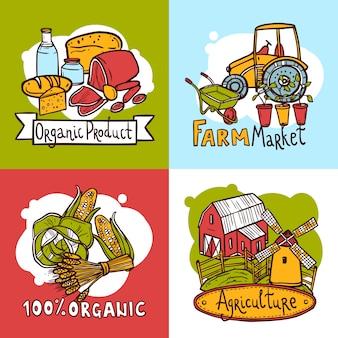 Concetto di design di agricoltura