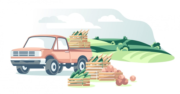 Agriculture equipment illustration