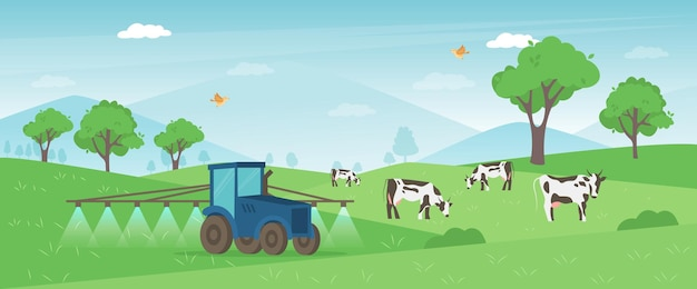 농업 농장 배너.