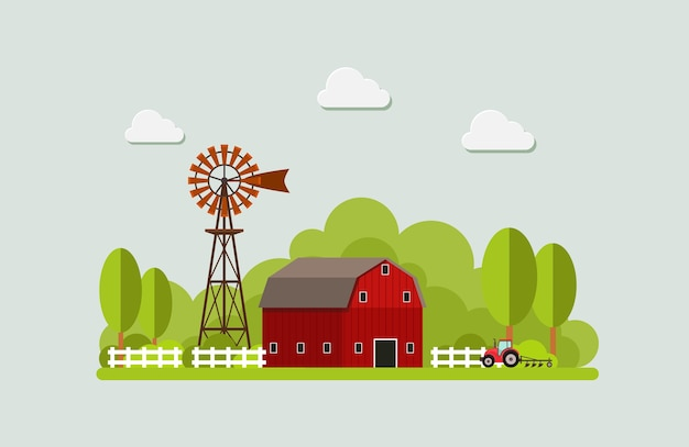 Agriculture and farming. agribusiness. rural landscape. design elements for info graphic.