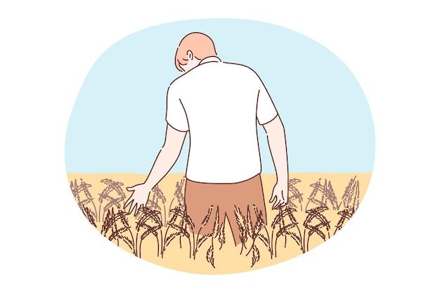 Сельское хозяйство, сельское хозяйство, концепция сбора урожая.