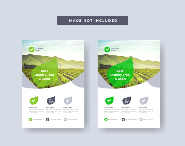 Agriculture firm flyer design layout