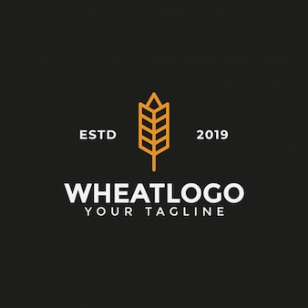 Agriculture grain wheat logo design template