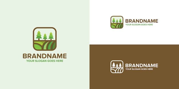 Agriculture green logo template