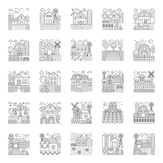 Agriculture illustrations pack