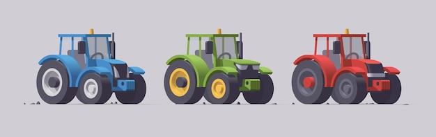 회색에 고립 된 농업 기계