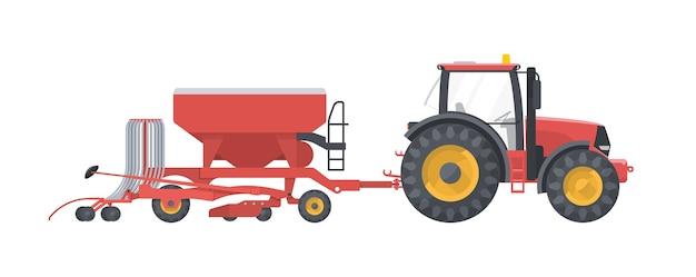 농업 기계 흰색 절연