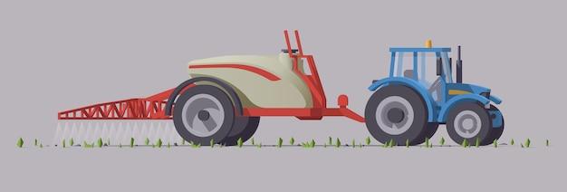 장비가있는 농업용 기계
