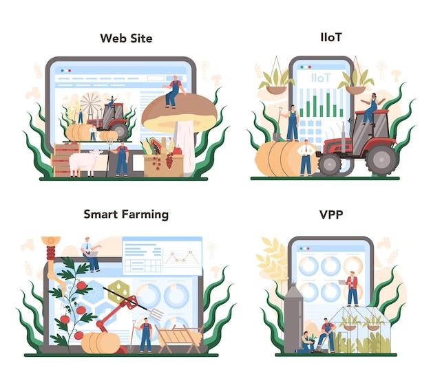 Agriculture online service or platform set