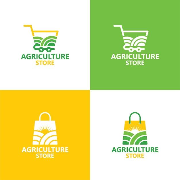 Agriculture store logo template premium vector
