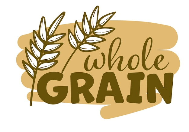 Agriculture wheat label