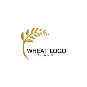 Дизайн иконок вектор шаблон логотипа пшеницы сельского хозяйства