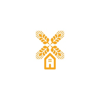 Agriculture wheat logo vector template icon design