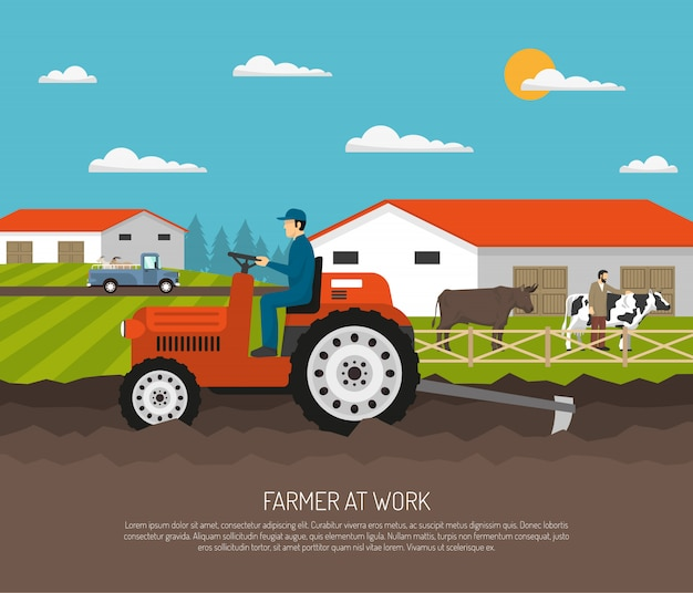 Agrimotor works farm composition